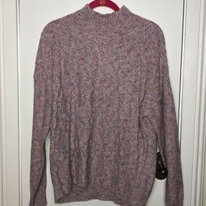 NWT 89+Madison multi colored high neck sweater Med